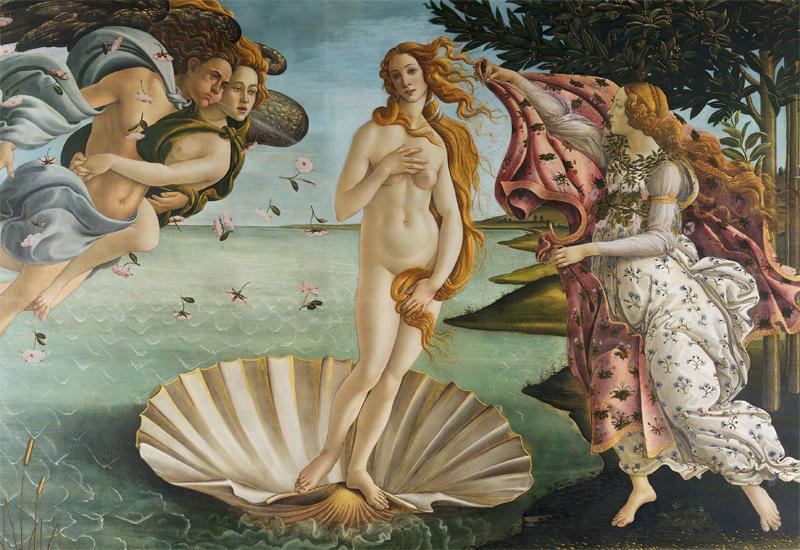 """© Sandro Botticelli """"Die Geburt der Venus"""" – Uffizien Florenz"""