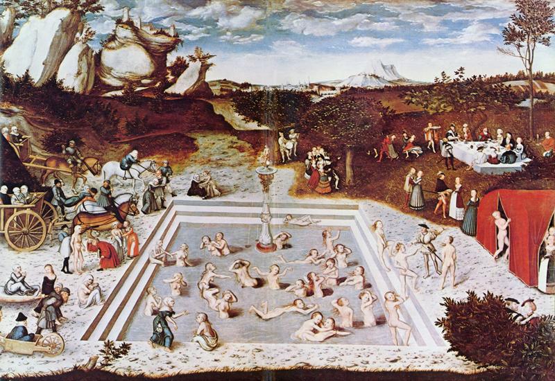 """© Lucas Cranach d. Ä. """"Der Jungbrunnen"""" – Gemäldegalerie Berlin"""